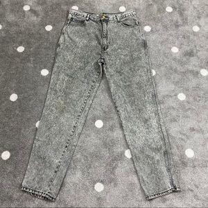 Vintage Fine Line Classic Denim Acid Wash Jeans